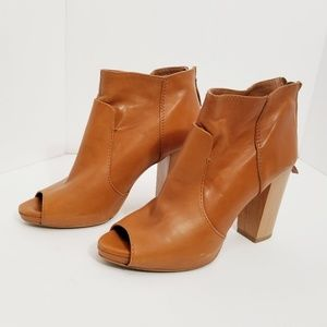 Zara Collection boots peep toe leather boots